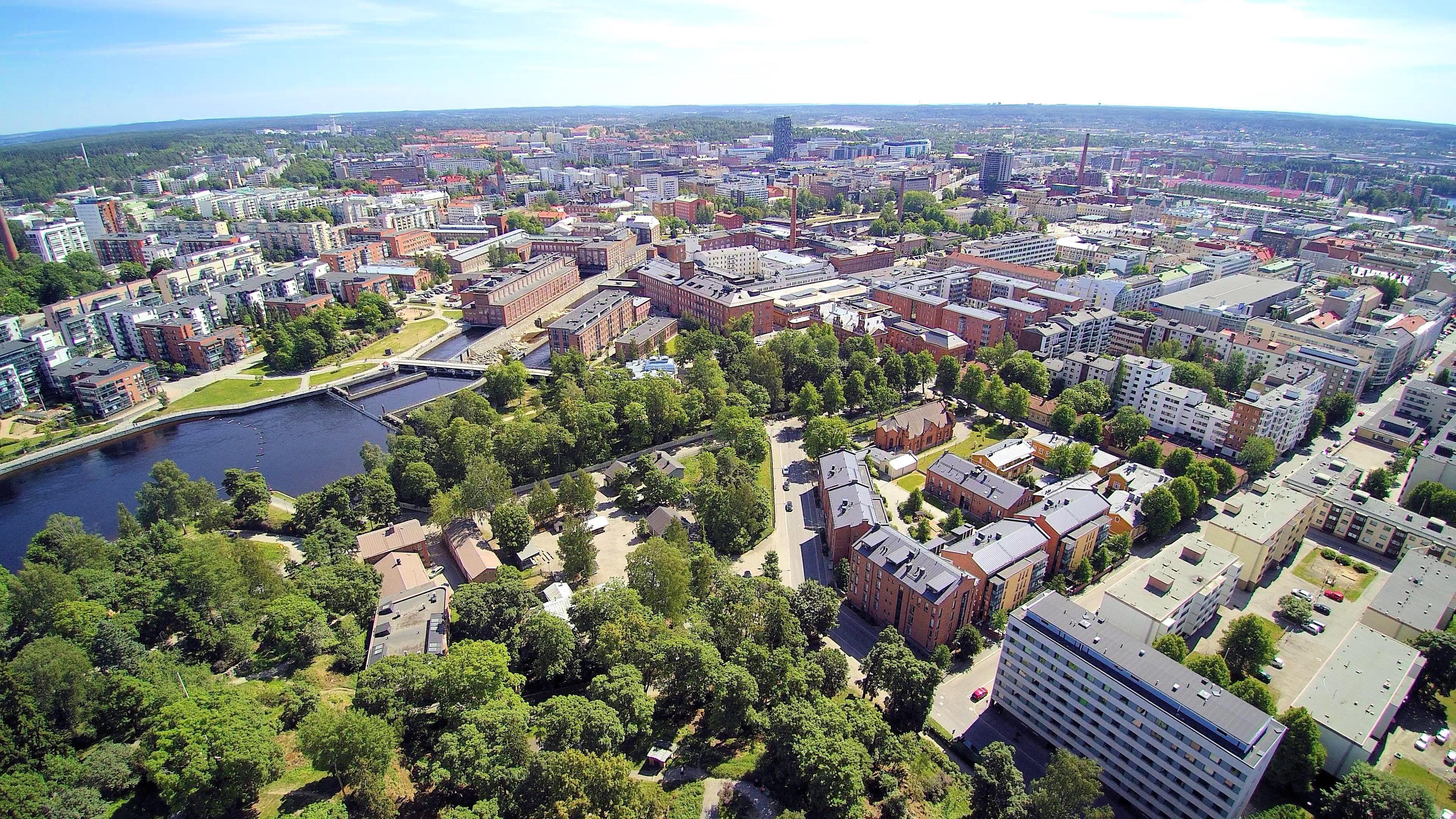 Tampereen ilmakuva. Kuva: Jorma Peltoniemi / Visit Tampere