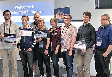 Tampereen innovaatiokisan voittajat. Kuva: kuvat: Päivi Stenroos
